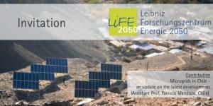 """Vortrag: """"Microgrids in Chile"""" @ Leibniz Universität"""