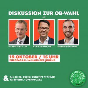 Diskussion zur OB-Wahl !! FÄLLT AUS !! @ Haus der Jugend