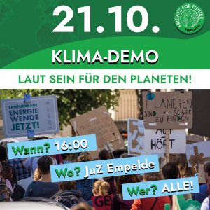 Klimaschutzdemo @ Jugendzentrum Empelde (direkt an der Endhaltestelle)
