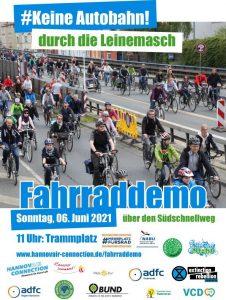 Fahrraddemo: Keine Autobahn durch die Leinemasch! @ Treffpunkt Trammplatz