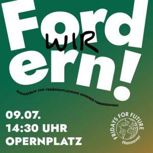 "Fridays-for-Future-Demo: ""Wir fordern!"" @ Opernplatz"