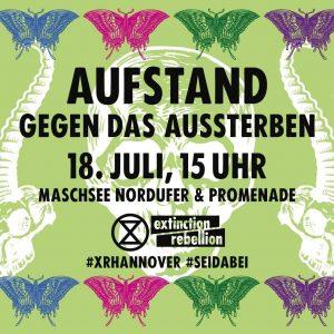 XR-Aktion: AUFSTAND GEGEN DAS AUSSTERBEN @ Maschsee Nordufer und Promenade