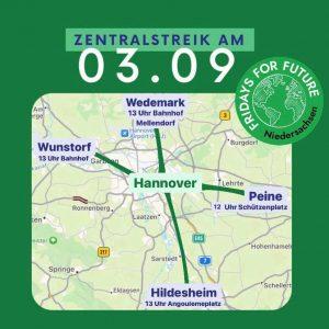Fahrrad-Sternfahrt nach Hannover (Ostroute) @ Schützenplatz Peine